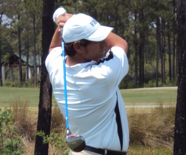 Taylor Dickson during the qualifying round of the Palmetto High School Championship.