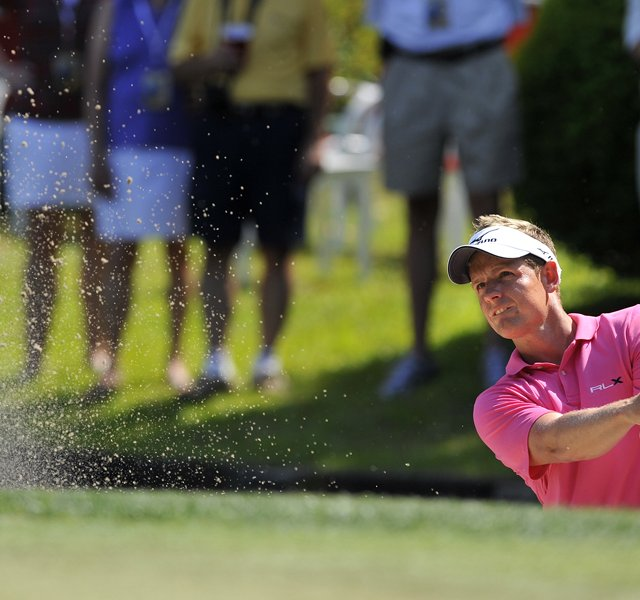 Luke Donald during the third round of The Heritage. 