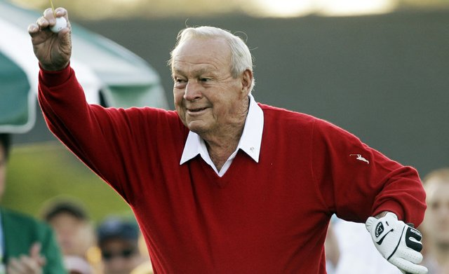 Arnold Palmer during the 2011 Masters Par 3 Contest