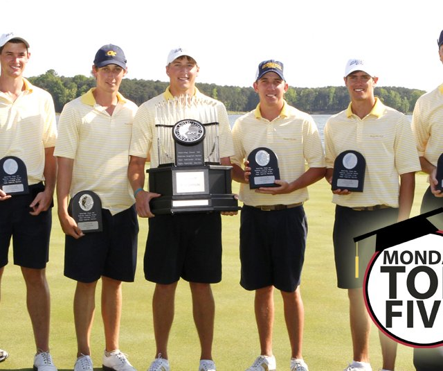 The Georgia Tech men's golf team after winning the ACC Championship.