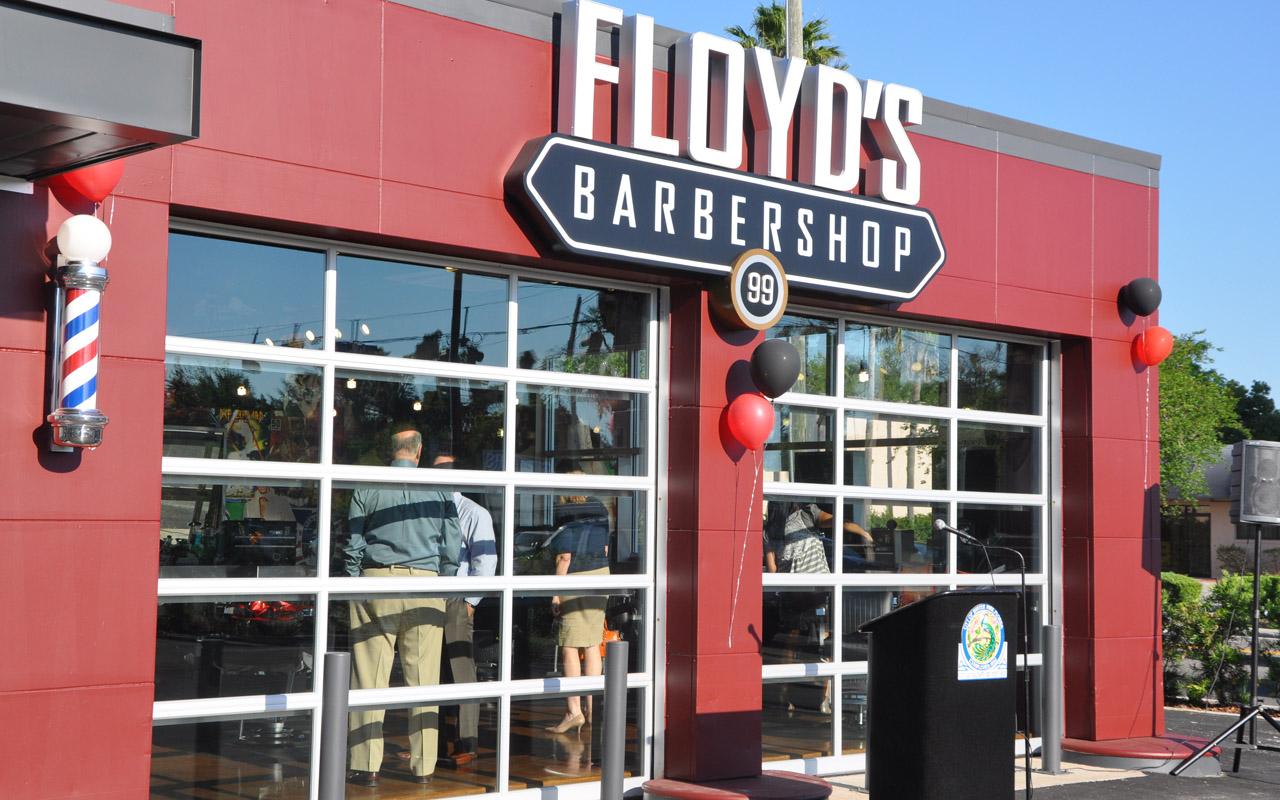 Floyds Barbershop grand opening photos