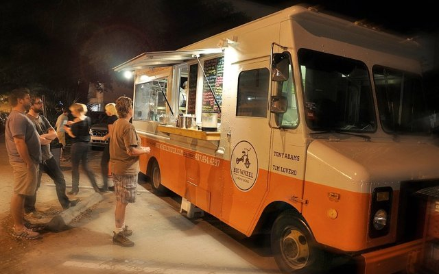 The Big Wheel Provisions food truck, which has been in operation for about a month, appeared at the new event at Lake Lily on Tuesday night.