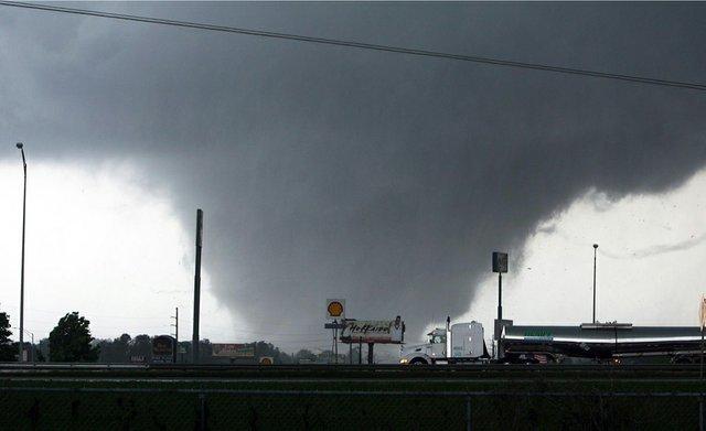 A tornado rips through Tuscaloosa, Ala., on April 27.