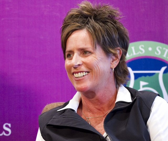 Solheim Cup captain Rosie Jones attends a press conference during the Mission Hills Star Trophy on October 28, 2010 in Haikou, China.