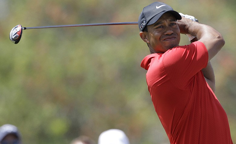 Tiger Woods during the final round of the WGC-Cadillac Championship at Doral.