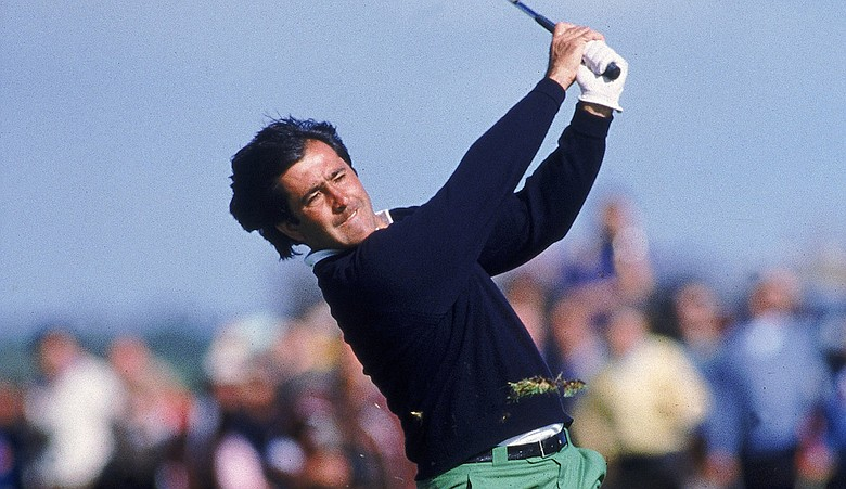 Seve Ballesteros during the 1988 British Open at Royal Lytham and St. Annes Golf Course.