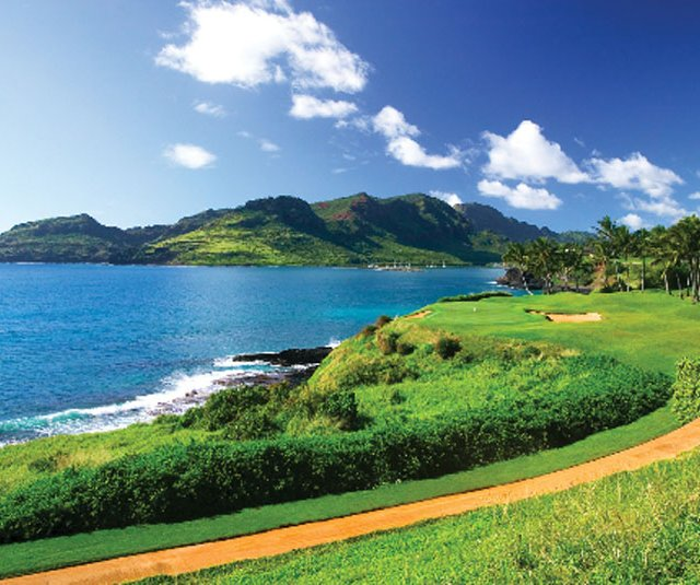 No. 5 on the Kiele Moana nine at Kaua&#39;i Lagoons Golf Club.
