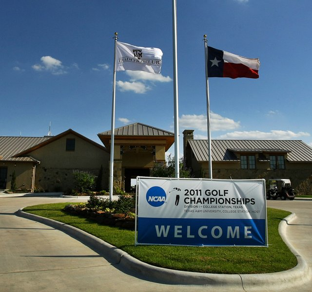 The entrance to The Traditions Club in Bryan, Texas, site of the 2011 NCAA Women&#39;s Championship. 