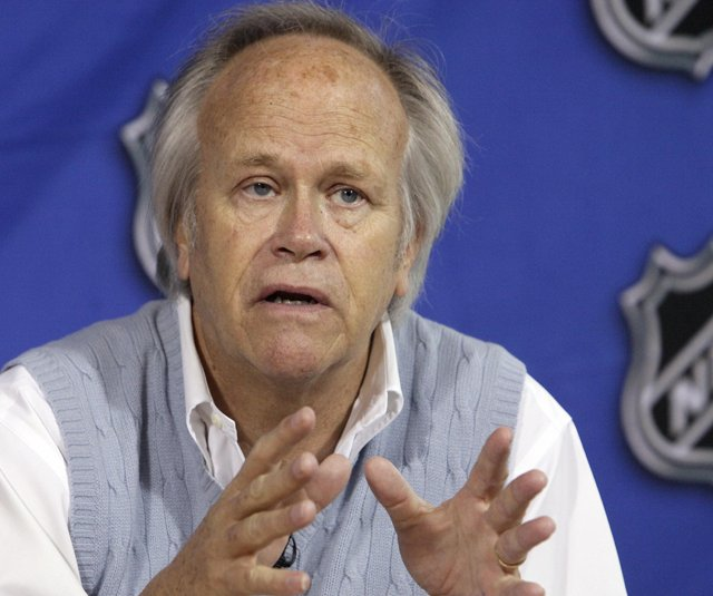 NBC Sports Group Chairman Dick Ebersol during an April 19, 2011, news conference at the offices of the National Hockey League, in New York.