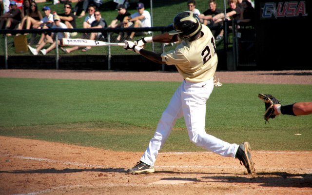 Darnell Sweeney was one of four Knights to hit a home run in one inning in their blowout of Marshall on May 22.