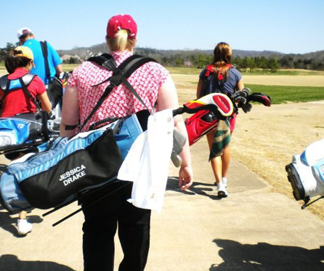 Members of the Lambuth women's golf team play a round together. In April, the University announced it would close after 168 years.