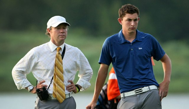 UCLA head coach Derek Freeman with Patrick Cantlay.