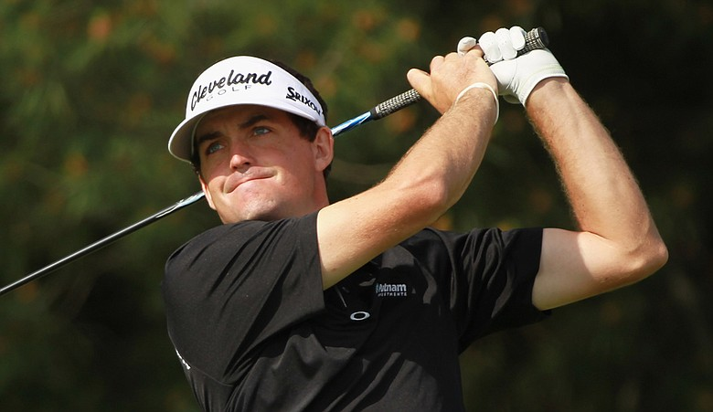 Keegan Bradley hits a shot during the first round of The Memorial.