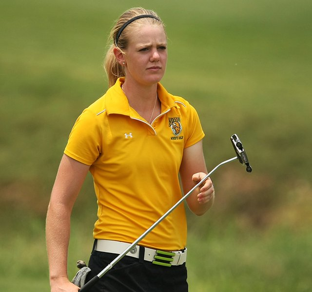 Amy Anderson during the NCAA Championship at Traditions Golf Club in Bryan, Texas.
