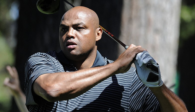 Charles Barkley during the 2009 Lake Tahoe celebrity golf outing.