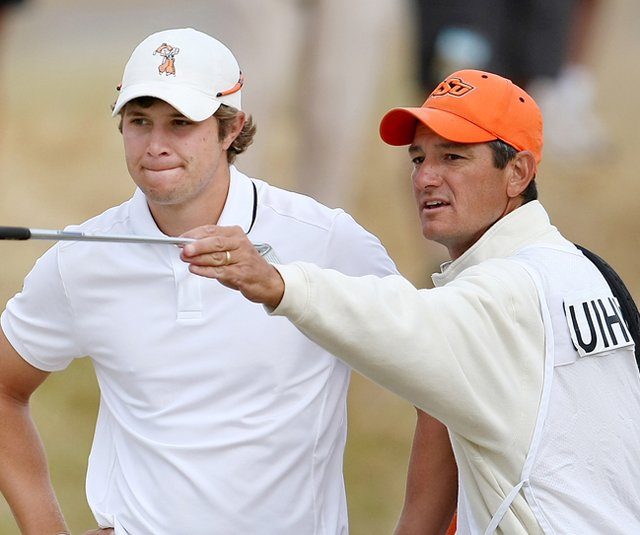 Alan Bratton (right) with Peter Uihlein during the 2010 U.S. Amateur.