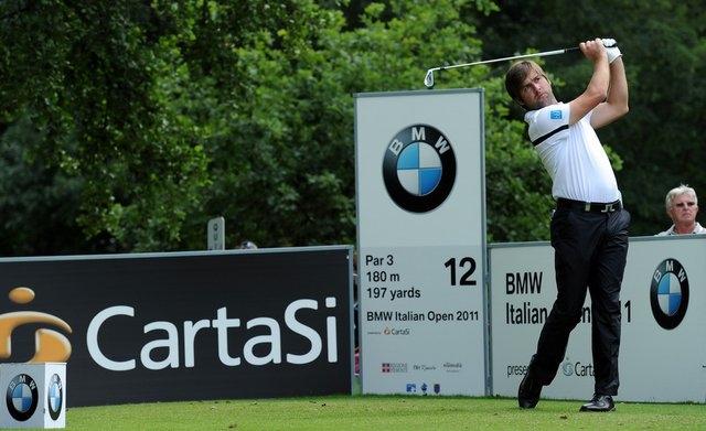 Robert Rock of England in action during the third round of BMW Italian Open at Royal Park I Roveri on June 11, 2011 in Turin, Italy.