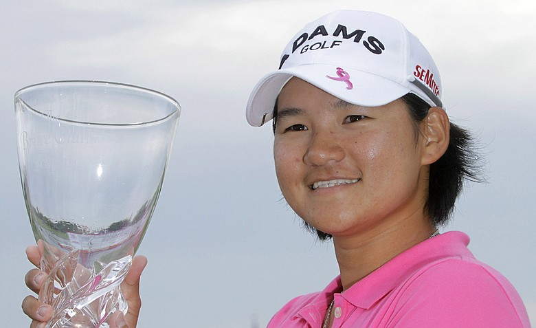 Yani Tseng with the trophy at the LPGA State Farm Classic.