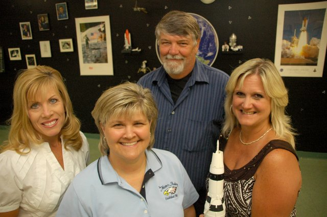 The Master's Academy teachers (from left) Christine Rowland, Dana Dionne, Mike Coffey, Debbie Clark and Chuck Dillon (not pictured) are heading to NASA's Johnson Space Center.