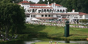 Congressional's clubhouse large and lively