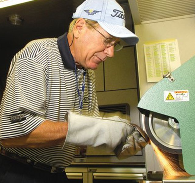 Bob Vokey splits his time these days between Titleists California research and development facility and various professional tours around the world. And often during his travels, especially to the Far East, hes revered as a golf icon. Much like his colleague Scotty Cameron, Titleists putter designer, Vokey draws huge crowds of ordinary golfers and golf fans seeking his wedge wisdom.