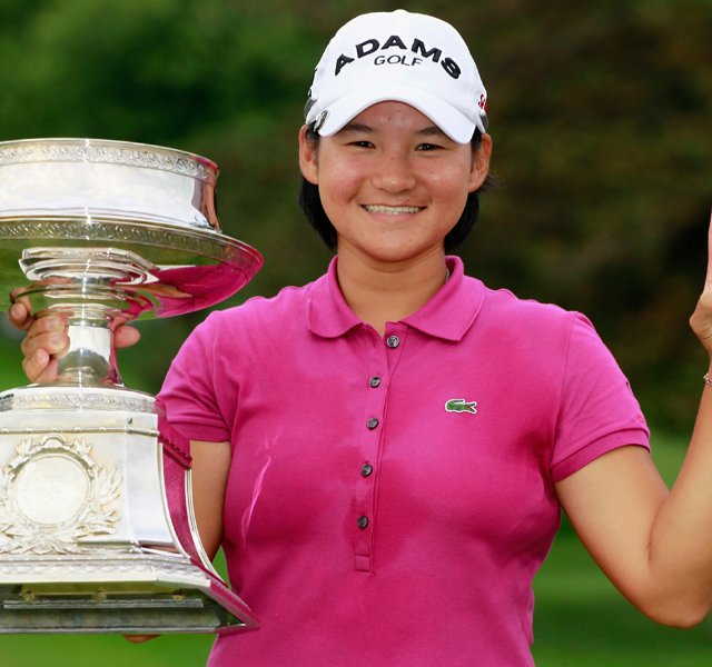Yani Tseng after winning the 2011 Wegmans LPGA Championship