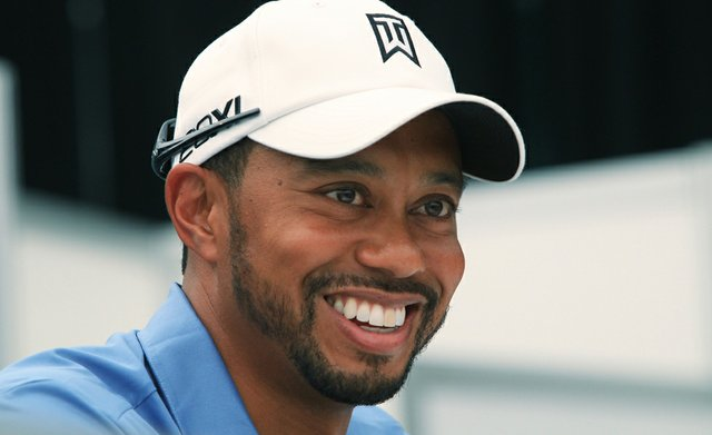 Tiger Woods during a news conference June 28 at the AT&T National