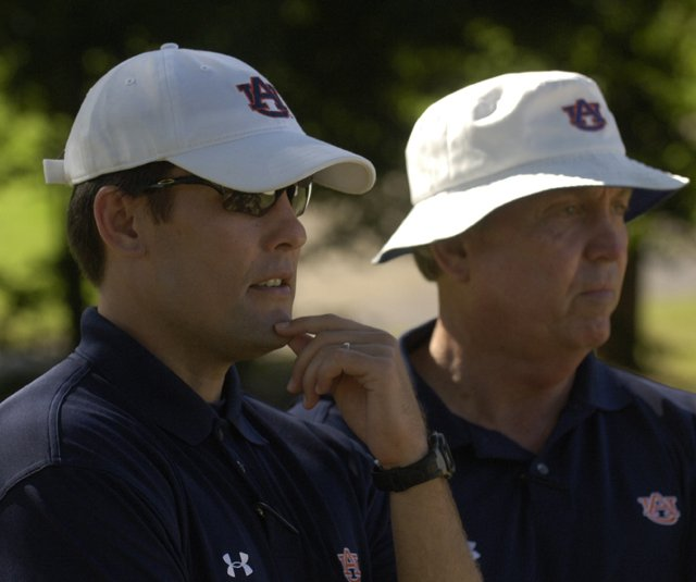 Ryan Cabbage with former Auburn Men&#39;s coach Mike Griffin.