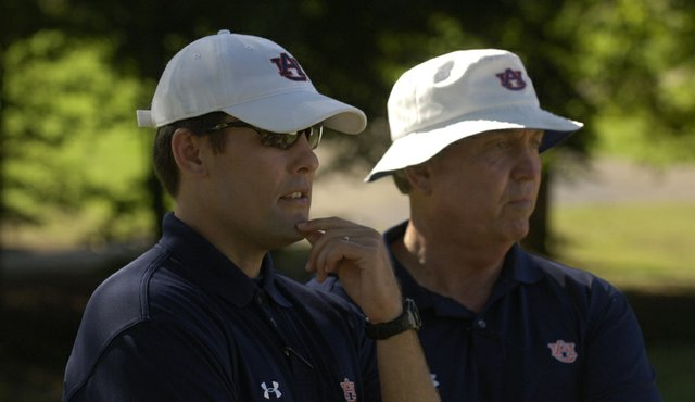 Ryan Cabbage with former Auburn Men's coach Mike Griffin.