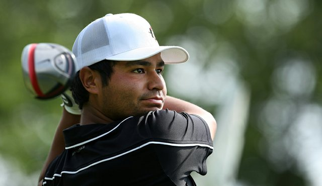 J.J. Spaun during Wednesday stroke play at the 2011 NCAA Division I Men's Golf Championship.