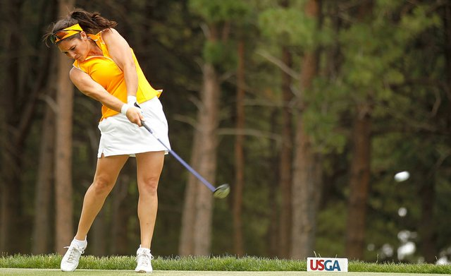Rachel Rohanna during a practice round for the U.S. Women's Open