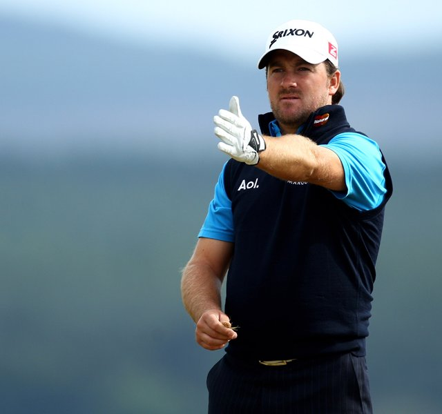 Graeme McDowell during the opening round of the Scottish Open