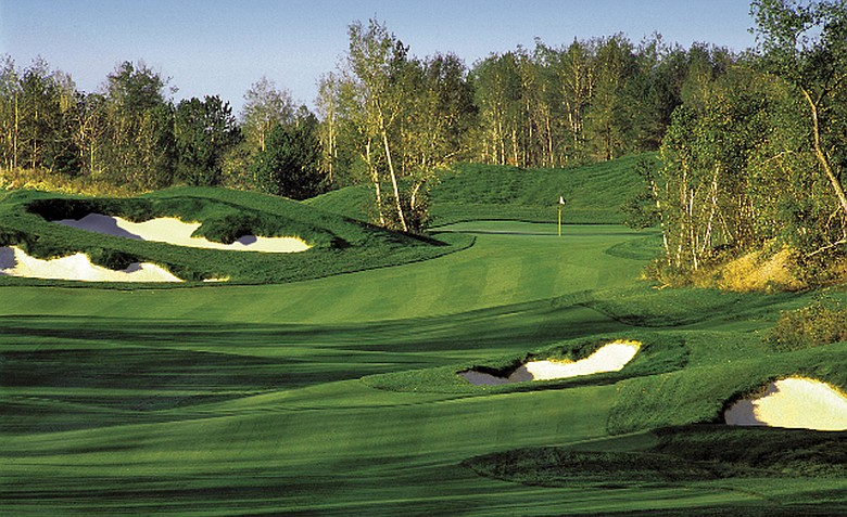 The 14th hole at The Quarry at Giants Ridge