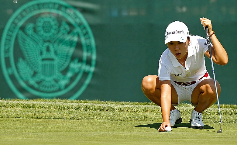 I.K. Kim during the continuation of the second round of the U.S. Women's Open