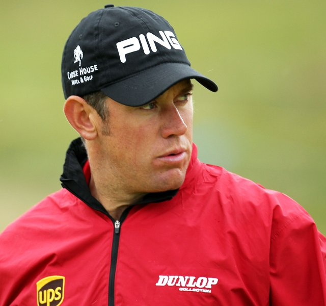 Lee Westwood during a practice round for the British Open