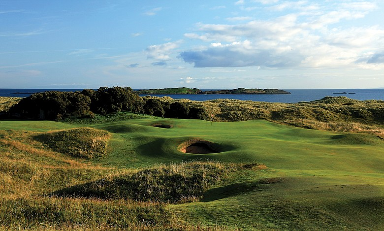 The par-4 13th on the Dunluce Course at Royal Portrush
