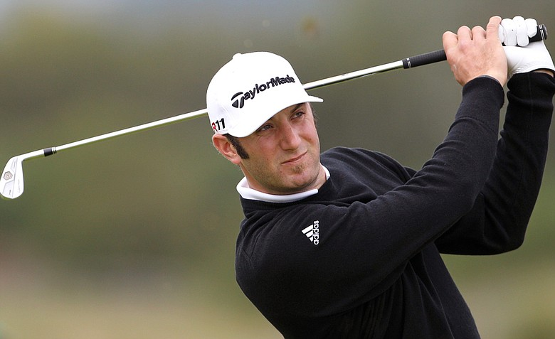 Dustin Johnson during Round 1 of the Open Championship