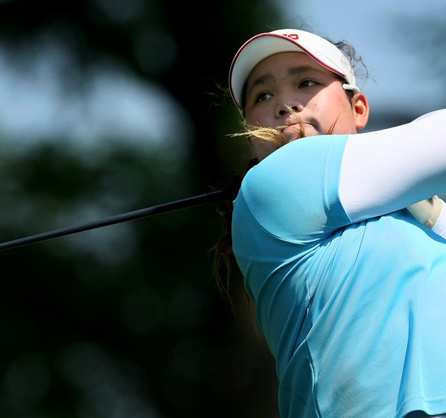 Ariya Jutanugarn of Thailand at the 63rd U. S. Girls&#39; Junior Championship at Olympia Fields Country Club.