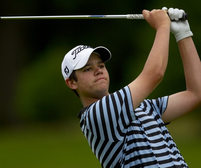 Beau Hossler during the Round of 64 at the U.S. Junior Amateur.