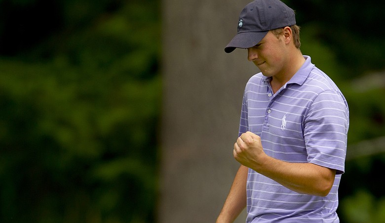 Jordan Spieth during the semifinals of the U.S. Junior Amateur at Gold Mountain.