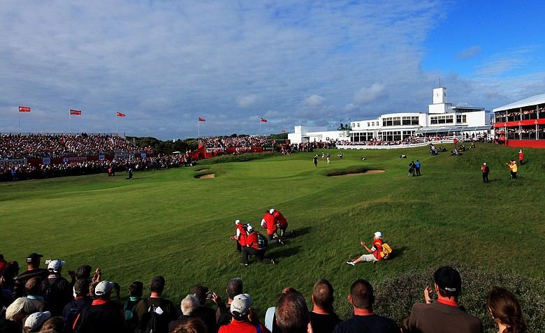 The 18th hole at Royal Birkdale during the 2010 Ricoh Women's British Open