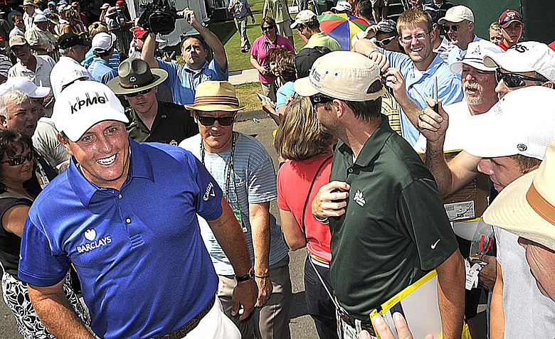 Phil Mickelson during Wednesday's pro-am at the Greenbrier Classic