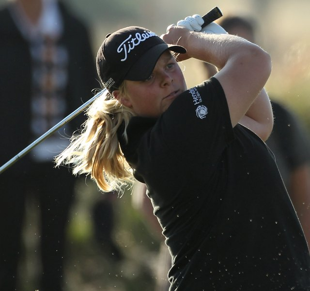 Caroline Hedwall during Round 1 of the Ricoh Women&#39;s British Open