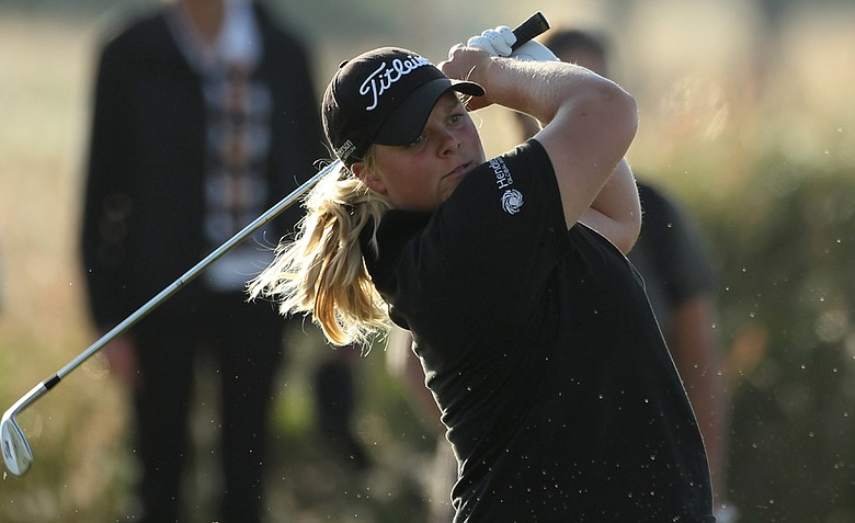 Caroline Hedwall during Round 1 of the Ricoh Women's British Open