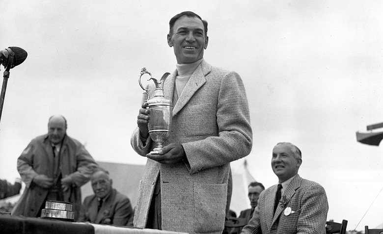 Ben Hogan after winning the 1953 Open Championship