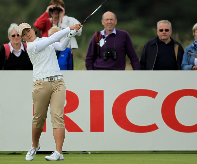 Se Ri Pak tees off during the second round of the 2011 Ricoh Women&#39;s British Open at Carnoustie.