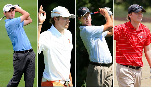 Patrick Cantlay, Peter Uihlein, Harris English and Russell Henley (from left) were the first four players named to the U.S. Walker Cup team.