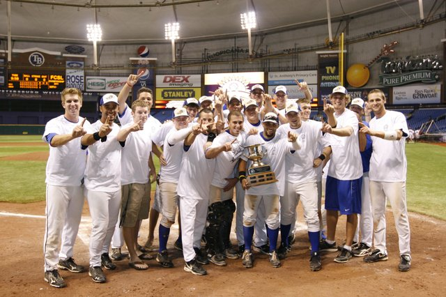 The Sanford River Rats shocked the Winter Park Diamond Dawgs in a comeback win in the FCSL Championship game Aug. 7.