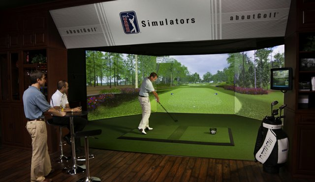 View of the PGA Tour Simulator from AboutGolf