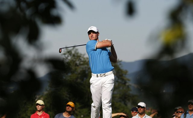 England's Oliver Fisher tees off during the final round of the Czech Open European PGA golf tournament in Celadna, Czech Republic, Sunday, Aug. 21, 2011. Fisher won the tournament.